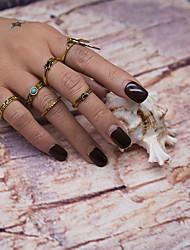 Femme Anneaux Bague Cuff Anneau Géométrique Mode Vintage euroaméricains Alliage de métal Résine Métal AlliageForme de Cercle Forme