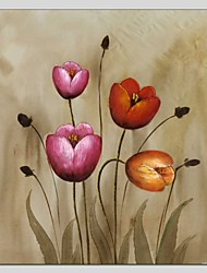 Oil Paintings Floral Style Canvas Material With Wooden Stretcher Ready To Hang Size 70*70 CM .