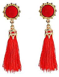 Belly Dance Jewelry Women's Performance Polyester Tassel(s) 2 Pieces Earrings