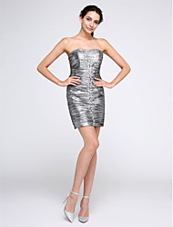 Sheath / Column Strapless Short / Mini Polyester Cocktail Party Homecoming Dress with Beading Ruching by TS Couture®