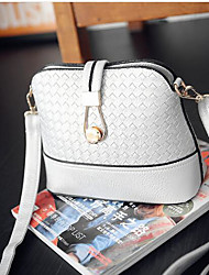 Women Bags All Seasons PU Shoulder Bag with for Casual Outdoor White Black