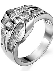 Ring Settings Ring Luxury Zircon Geometric 2 Colors  Women's Rhinestone Cute Style Movie Jewelry Euramerican Fashion Daily Party