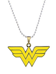 Lureme Simple Jewelry Wonder Woman Sign Letter Pendant Necklace