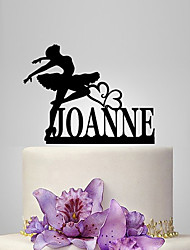 Personalized Acrylic Dancing Girl Wedding Cake Topper