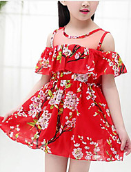 Girl's Floral Dress Short Sleeve