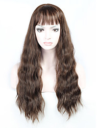 Hot Selling Brown Color Long Natural Wave Women Wigs Heat Resisting Cospaly Syntheitc Wigs