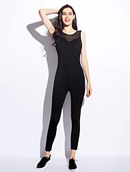 Femme simple Taille Normale Sports Combinaison-pantalon,Slim Mosaïque Mode Couleur unie Toutes les Saisons