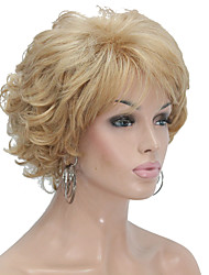 New Arrival Women's Short Straight Layered Synthetic Hair Wig blonde hair Wig