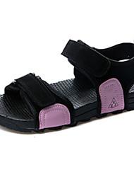 Women's Flats Comfort Rubber Summer Outdoor Walking Comfort Magic Tape Low Heel Purple Black White Under 1in