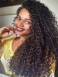 150% de espessura de peruca de peruca virgem humana com perna natural de perna natural com perna natural para mulheres pretas