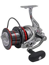 Reel Fishing Roulement Moulinet spinnerbaits 4:1 14 Roulements à billes EchangeablePêche d'eau douce Pêche au leurre Pêche générale