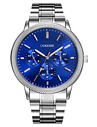 Hombre Reloj de Vestir Reloj de Moda Reloj de Pulsera Reloj creativo único Reloj Casual Simulado Diamante Reloj Chino Cuarzo Esfera Grande