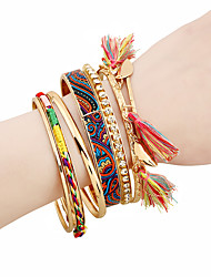 Femme Charmes pour Bracelets Bracelets Rigides Bracelets Mode Hip-Hop Gothique Alliage de métal Matériel mixte Forme de Cercle Bijoux Pour