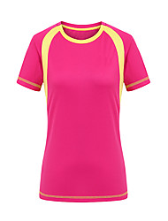 Femme Tee-shirt Camping / Randonnée Chasse Escalade Séchage rapide Vestimentaire Eté