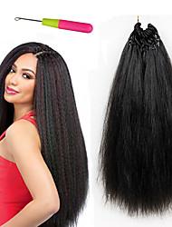 Burgundy synthetic pre-loop yaki straight hair 18 inch pre looped 22 strands crochet straight hair extension synthetic crochet braids 100g