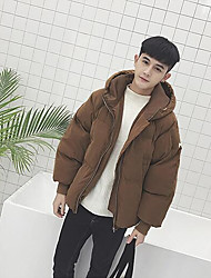 Men's Regular Padded Coat,Simple Casual/Daily Others-Polyester Without Filling Material Long Sleeve
