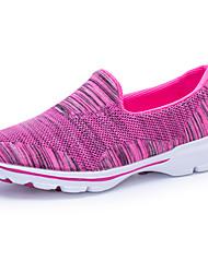 Femme Chaussures d'Athlétisme Confort Semelles Légères Tricot Printemps Automne Athlétique Décontracté Marche Lacet Talon PlatGris Violet