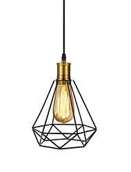 Colgante de iluminación hierro industrial lámpara colgante retro luces colgantes arte decoración café bar salón