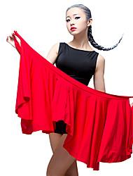 Baile Latino Pantalones y Faldas Mujer Actuación Seda Sintética 1 Pieza Cintura MediaBufanda Hip y cinta de Danza del vientre no