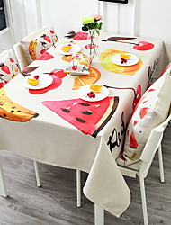 Cute Colorful Fruit Series Cotton And Linen Table Cloth 85*85cm