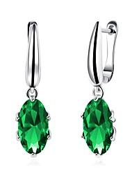 Women's Drop Earrings Crystal Cubic Zirconia AAA Cubic ZirconiaBasic Unique Design Dangling Style Rhinestone Heart Natural Geometric