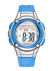 Kid's Sport Watch Digital Watch Digital Water Resistant / Water Proof Noctilucent Rubber Band Blue