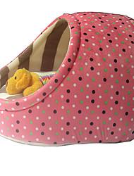 Собака Кровати Животные Коврики и подушки В горошек Теплый Желтый Кофейный Розовый Синий Розовый