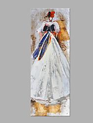 Peint à la main Personnage Style moderne Mode Un Panneau Toile Peinture à l'huile Hang-peint For Décoration d'intérieur