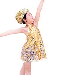 MiDee Children Dance Dancewear Sequined Children Jazz Dress Jazz Dance outfits