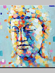Pintados à mão Religião e Espiritualidade Moderno/Contemporâneo 1 Painel Tela Pintura a Óleo For Decoração para casa