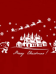 Wall Stickers Wall Decals Merry Christmas Village PVC Wall Stickers