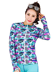 Large Size Diving Suit Ladies Split Zipper Surf Clothing Long Sleeve Snorkeling Clothes Quick Dry Jellyfish Clothes