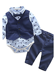 Boys' Geometric Sets,Cotton Spring Fall Long Sleeve Clothing Set