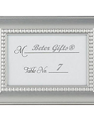 Royal Silver Baroque Metal Place Card Photo Holder 4 x 3 inch Beter Gifts® DIY Party Decoration