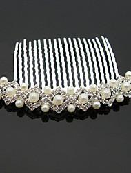 Imitation Pearl Rhinestone Alloy Headpiece-Wedding Special Occasion Anniversary Birthday Housewarming Congratulations