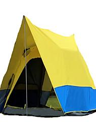 3-4 personnes Tente Double Tente automatique Une pièce Tente de camping >3000mm Térylène Ruban adhésif argentéVentilation Résistant à la