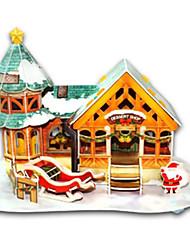 Jigsaw Puzzles DIY KIT 3D Puzzles Building Blocks DIY Toys House Christmas Hard Card Paper