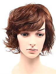 Fashion Short Bob Curly Natural Wigs Side Bang for Women Costume Wigs Cosplay Synthetic Wigs
