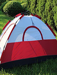 3-4 persons Travel Bag Beach Tent Single Camping Tent Automatic Tent Keep Warm 1500-2000 mm for Camping / Hiking CM Stretch Satin