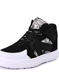 Unisex Zapatillas de deporte Confort Tejido Primavera Invierno Casual Confort Con Cordón Tacón Plano Gris Pantalla de color Plano