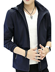 Men's Other Daily Casual Outdoor clothing Plus Size Casual/Daily Club StreetTraditional/Vintage Formal Simple Jackets Casual Casual/Daily