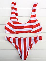 Damen Halfter Bikinis Floral Tiefer Ausschnitt Mit Schleife Solide