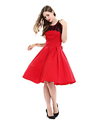 Women Dress Audrey Hepburn Lace Vestidos Sleeveless Belted Polka  Clothing Cotton 50s Casual Rockbilly Dresses D0612