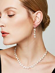 Women's Jewelry Set Drop Earrings Necklace/Earrings Fashion Elegant Bridal Imitation Diamond Jewelry Necklaces Earrings ForWedding Party