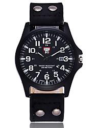 Hombre Reloj de Vestir Reloj de Moda Simulado Diamante Reloj Reloj de Pulsera Reloj creativo único Reloj Casual Chino Cuarzo PU Banda