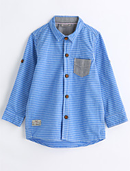 Boys' Stripes Shirt,Cotton Spring Fall Long Sleeve