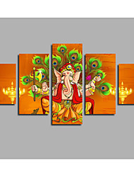 Newly Designed Canvas For The Hall Living Room Decor Modular Unframed Elephant Statue Paintings  Modern Landscape Posters & Prints
