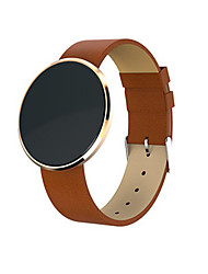 Women's Men's Fashion Watch Digital Leather Band Black Brown