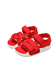 Girls' Sandals First Walkers PU Spring Fall Casual First Walkers Magic Tape Flat Heel Ruby Flat