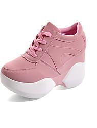 Women's Heels Formal Shoes Comfort PU Fall Party & Evening Dress Walking Formal Shoes Comfort   Wedge Heel Blushing Pink Black White